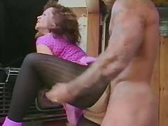 Thick mature pleases a young stud