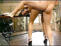 Karen Lankaume fucking in the office