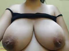 Huge breasts with inverted nipples, pussy spread