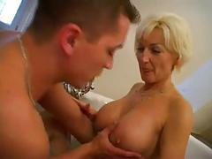 Mature Blonde Fucked in Bathroom BVR