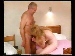 Grandpa fucks blonde