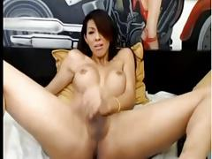 Amateur asian tranny wanking oon web cam