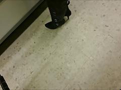 stockings top upskirt in shop (short)