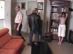 Dad and friend spanking.